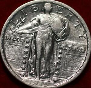 1919-S San Francisco Mint Silver Standing Liberty Quarter