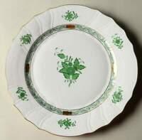 516 Bread /& Butter Plate 6120137 Herend QUEEN VICTORIA GREEN BORDER