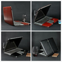 """PU Leather Book Back Case Cover  for MacBook air pro 11"""" 12"""" 13"""" 15"""" A1932 A2159"""