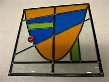 Newly crafted TRADITIONAL STAINED GLASS WINDOW PANEL Mathematical Design UNIQUE