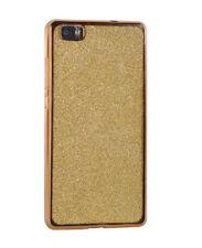 ^ Glitter Elektro Silikonhülle Cover Back Etui 2 Teilen Motorola Moto G5S Gold