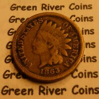 1863  CN   Indian Head Penny Cent  Coin  #L63