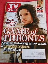 TV GUIDE APRIL 2014 GAME OF THRONES MAD MEN ORPHAN BLACK SALEM
