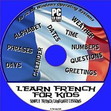 FRENCH FOR KIDS EASY CHILDRENS SIMPLE  INTERACTIVE LANGUAGE LESSONS PC CD NEW