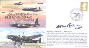 MF4 WW2 RAF Handley Page Halifax 1st Pathfinder Raid cover signed WING DFM