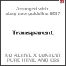 Transparent eBay Auction Listing Template Design Responsive