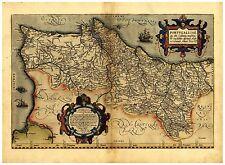 Old Vintage Portugal map Ortelius ca. 1570