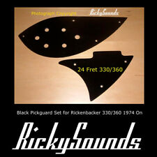 Rickysounds Custom Made Black Pickguard for any Rickenbacker 12 or 6 Guitar