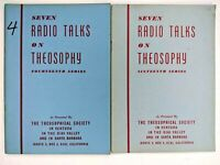 LOT of 2 Theosophical Society 7 Radio Talks 14th 16th Sri Ram Occult Theosophy