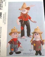 "Vtg 60s Craft Doll Pattern Hill Billy 12"" 17"" Ma & Pa Hillbilly dolls FF"