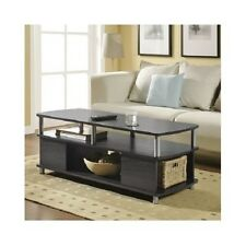 Contemporary Coffee Table Modern Living Room Furniture Wood Storage Accent Decor