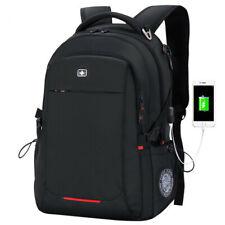 "USB Port 15.6"" Swiss Gear Waterproof Backpack Anti-theft Bussiness Laptop bag"