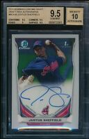 BGS 9.5 AUTO 10 JUSTUS SHEFFIELD 2014 Bowman Chrome PROSPECT Rookie RC GEM MINT