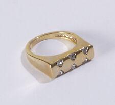 Gelbgold beschichtete Modeschmuck-Ringe für Damen mit Ø) 57 (18,1