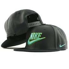 Nike True Snapback Charcoal and Neon Green Adjustable Flat Bill hat cap