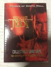 Star Wars Young Jedi CCG TCG Menace Of Darth Maul Starter Deck For Card Game x 2