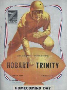 1948 Trinity v Hobart Football Program Signed AD Ray Oostang HC Stuart Parks +36