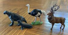 Vintage Britains Ltd Seal Ostrich with moving head, Elk and Lizard?