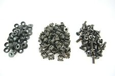 "50 x BLACK  M6 Cage Nut, Screws & Washers - 19"" Cabinet Rackmount Fixing Kit"