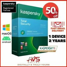 Kaspersky Total Security 2021 Antivirus 1 PC Device 2 Year Windows Mac Android