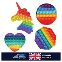 Rainbow Pop Push It Bubble Sensory Fidget Kids Toy Special Needs Stress Relief