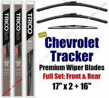 Wipers 3-Pack Premium Front Rear - fit 1990-1991 Chevrolet Tracker 19170x2/30160