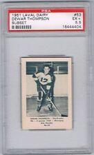 1952 Laval Dairy Subset Hockey Card Sherbrooke Saints D. Thompson Graded PSA 5.5