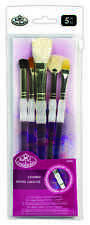 ROYAL SOFT GRIP ARTISTS BRUSHES TEXTURE SET ACRYLIC WATERCOLOUR OIL PAINT SG306