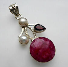 Ruby Treated Fine Necklaces & Pendants