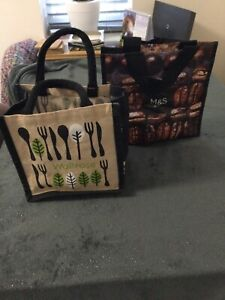 Set Of 2 Small Lunch Bags From M&S And Waitrose. Excellent Condition