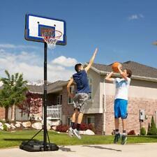 "Basketball Goal Hoop System Portable Outdoor W/ 44"" Backboard Adjusts 7.5 -10 Ft"