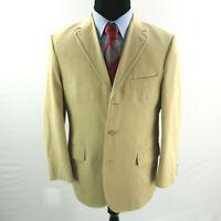 J Crew Cotton Sport Coat Mens 42R 42 Blazer Tan Brown Italian Fabric