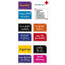 Carnet de timbres Croix-Rouge autoadhésifs émis en 2021.