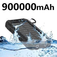 Travel Best Waterproof Solar Power Bank 900000mAh 2USB Portable Battery Charger
