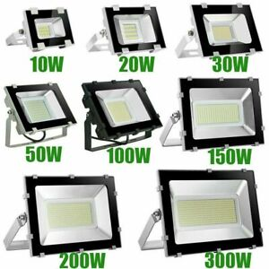 10W-500W LED Floodlight Outside Light Security Flood Lights IP65 Outdoor Garden