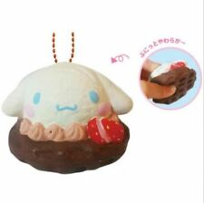 Authentic Japan Sanrio Cinnamoroll Squishy Waffle Ice Cream Chocolate keychain