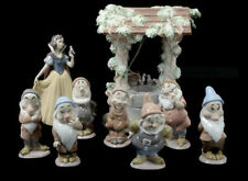 Lladro Snow-White And Seven Dwarfs Plus Wishing Well $4500 Value Mint In Boxes