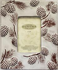 Pine Cones Ceramic Picture Frame 4x6-Sonoma
