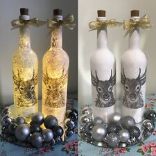 Decoupage Decorative Wine Bottle Is With Lights
