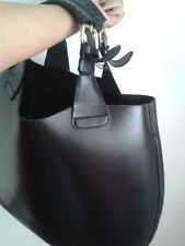 ZARA Woman – Large Black Leather Tote Handbag