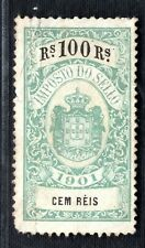 Portugal Revenue Stamp 100r Imposto Do Sello Used 1901 ex Collection B2White17