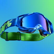 100% DREAMFLOW Racecraft MX Goggles Blue w Blue Iridium Lens Motorbike