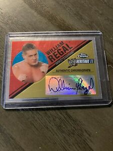 wwe william regal topps chrome heritage ll authentic autograph