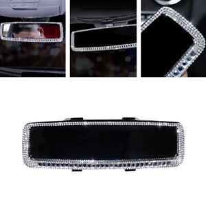 Sparkle Rhinestone Car Rearview Mirror Bling Diamond Decor Interior Accessories