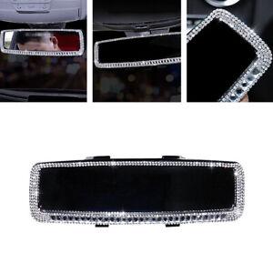 Sparkle Rhinestone Car Rearview Mirror Bling Diamond Decor Interior Accessories