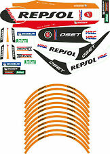 "Oset Trial 16"" Repsol Decal Set With Wheel Rim Decals, Montesa 4RT Style"