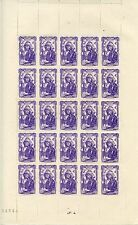TIMBRE FRANCE NEUF N° 594 ** FEUILLE DE 25 TIMBRES BRETAGNE COTE  + 61 €