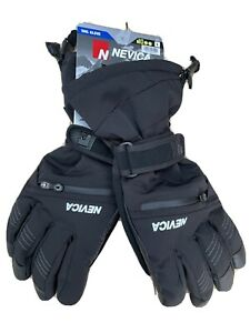 NEW Mens Nevica Vail Ski Gloves Black Large 10000mm Waterproof RRP£69.99 Leather