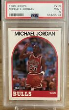 1989 Hoops Michael Jordan HOF #200 PSA 9 MINT Chicago Bulls
