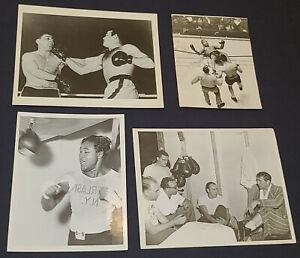 1950's BOXER - ROLAND LA STARZA /KID GAVILAN /etc - BOXING PHOTOS (4) - ORIGINAL